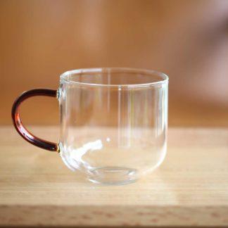 彩柄玻璃馬克杯琥珀色