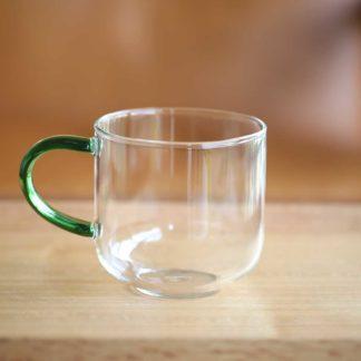 彩柄玻璃馬克杯湖綠色