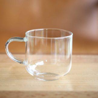 彩柄玻璃馬克杯透明色