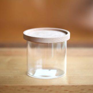 玻璃木蓋罐